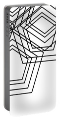 Black And White Geo Portable Battery Charger