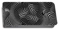 Black And White Illusion Portable Battery Charger