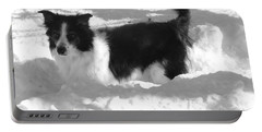 Black And White In The Snow Portable Battery Charger by Michael Porchik