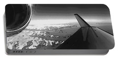 Portable Battery Charger featuring the photograph Jet Pop Art Plane Black And White  by R Muirhead Art