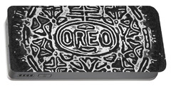 Black And White Oreo Portable Battery Charger