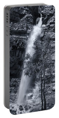 Black And White Waterfall Portable Battery Charger