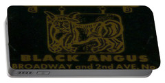 Portable Battery Charger featuring the digital art Black Angus by Cathy Anderson