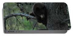 Black Bear Cub In Tree Portable Battery Charger