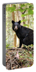 Black Bear Smile Portable Battery Charger