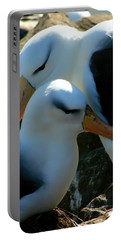Black Browed Albatross Pair Portable Battery Charger by Amanda Stadther
