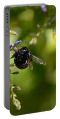 Black Bumblebee Portable Battery Charger by Debra Martz