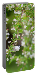Black Capped Chickadee Portrait Portable Battery Charger