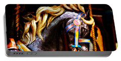 Black Carousel Horse Portable Battery Charger