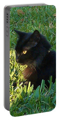 Black Cat Portable Battery Charger by Deborah Lacoste