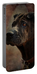 Black Chinese Shar-pei Portable Battery Charger
