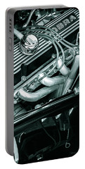 Portable Battery Charger featuring the photograph Black Cobra - Ford Cobra Engines by Steven Milner