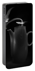 Portable Battery Charger featuring the photograph Black Coffee Pot - Light Painting by Steven Milner