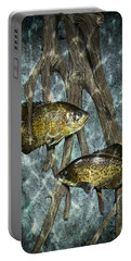Black Crappies A Fish Image No 0143 Blue Version Portable Battery Charger