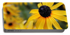 Black Eyed Susan Portable Battery Charger by Melissa Petrey