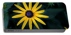 Black-eyed Susan Portable Battery Charger by William Tanneberger