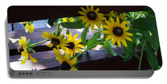 Black-eyed Susans Portable Battery Charger by Ellen Tully