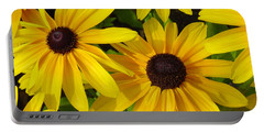 Black Eyed Susans Portable Battery Charger by Suzanne Gaff