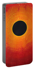 Black Hole Sun Original Painting Portable Battery Charger