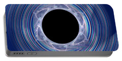 Portable Battery Charger featuring the digital art Black Hole by Victoria Harrington