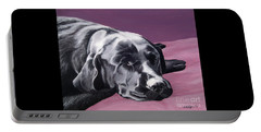 Black Labrador Beauty Sleep Portable Battery Charger