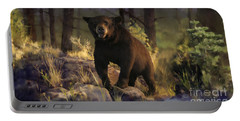 Portable Battery Charger featuring the painting Black Max by Rob Corsetti