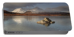 Black Mount And Lochan Na H-achlaise Portable Battery Charger