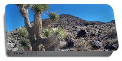 Portable Battery Charger featuring the photograph Black Mountain Yucca by Alan Socolik