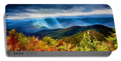 Black Mountains Overlook On The Blue Ridge Parkway Portable Battery Charger