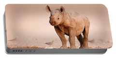 Black Rhinoceros Baby Portable Battery Charger