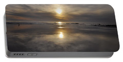 Portable Battery Charger featuring the photograph Black Sunset by Gandz Photography