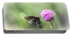 Black Swallowtail Dreaming Portable Battery Charger