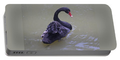 Black Swan Cygnus Atratus Portable Battery Charger by Venetia Featherstone-Witty