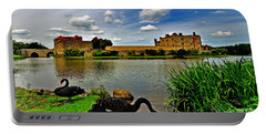 Black Swans At Leeds Castle II Portable Battery Charger