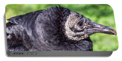 Black Vulture Waiting For Prey Portable Battery Charger