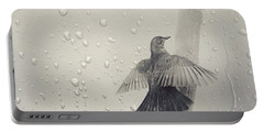 Blackbird In The Rain Portable Battery Charger