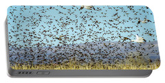 Blackbirds And Geese Portable Battery Charger