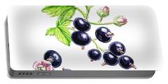Blackcurrant Botanical Study Portable Battery Charger by Irina Sztukowski