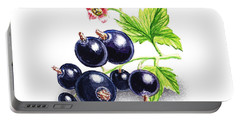 Portable Battery Charger featuring the painting Blackcurrant Still Life by Irina Sztukowski
