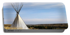 Portable Battery Charger featuring the photograph Blackfoot Teepee by Alyce Taylor