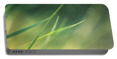 Blades Of Grass Bathing In The Sun Portable Battery Charger