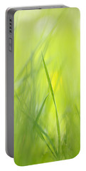 Blades Of Grass - Green Spring Meadow - Abstract Soft Blurred Portable Battery Charger