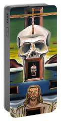 Portable Battery Charger featuring the painting Blasphemixition by Ryan Demaree