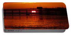 Blazing Sunset Portable Battery Charger by Vicki Spindler