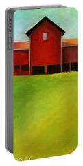 Bleak House Barn 2 Portable Battery Charger by Catherine Twomey