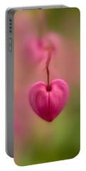 Bleeding Heart Flower Portable Battery Charger