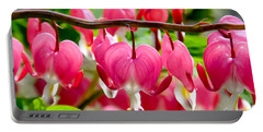 Bleeding Heart Flowers Portable Battery Charger