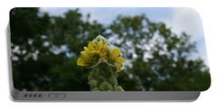 Portable Battery Charger featuring the photograph Blended Golden Rod Crab Spider On Mullein Flower by Neal Eslinger