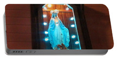 Blessed Mary - New Orleans La - Www.rocknbowl.com Portable Battery Charger by Deborah Lacoste