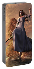 Blind Justice With Scales And Sword Portable Battery Charger